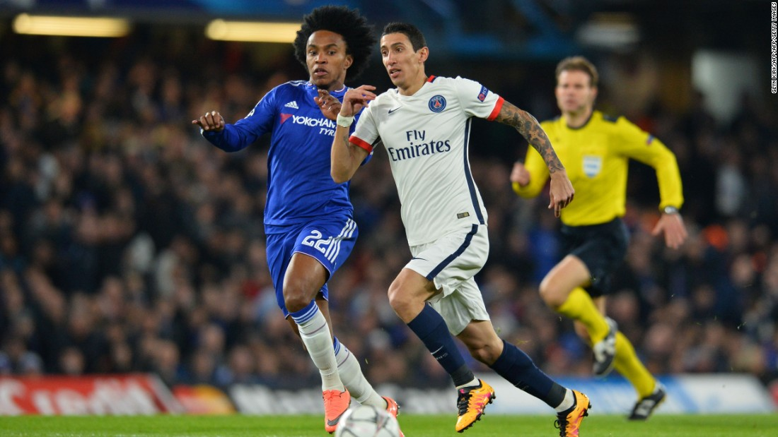 Chelsea pushed forward in search of a way back into the game but with 23 minutes remaining, Ibrahimovic pounced to send PSG into the last eight after great work by Angel Di Maria.
