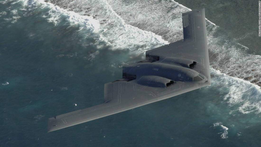 The four-engine B-2 heavy bomber has stealth properties that make it hard to detect on radar. Flown by a crew of two, it has an unrefueled range of 6,000 miles and can deliver both conventional and nuclear bombs. Twenty B-2s are in the active inventory. They joined the fleet in 1997.