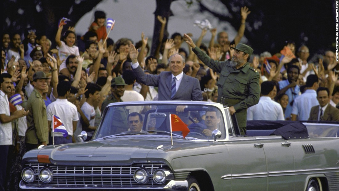 In 1989, just two years before the Soviet Union collapsed, Castro met with Soviet leader Mikhail Gorbachev. Cuba and Russia enjoy a long friendship going back to the Cold War.