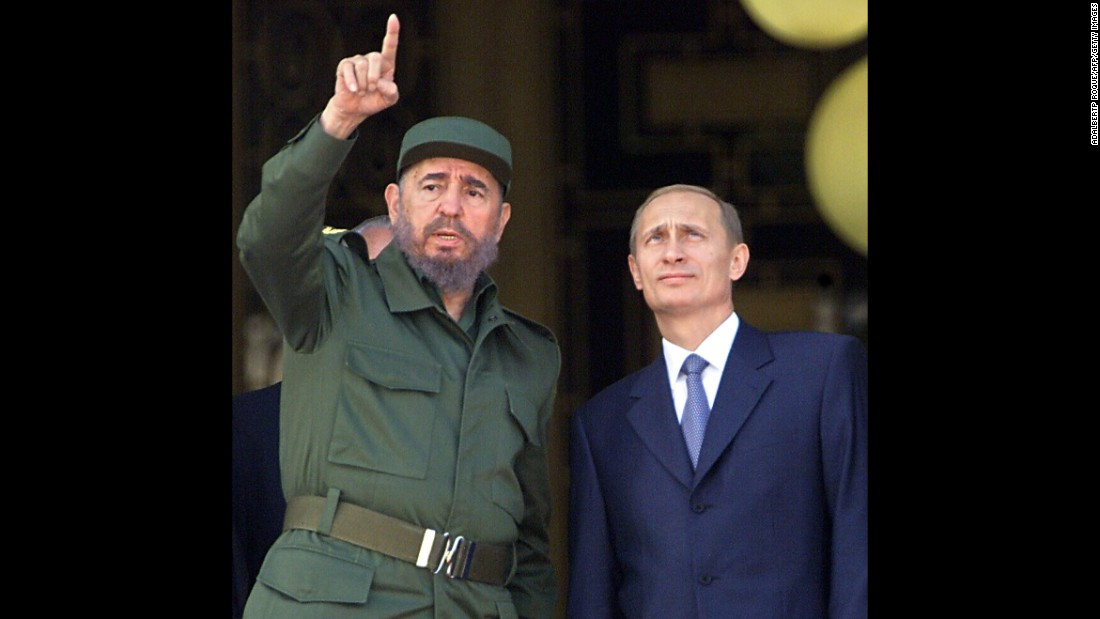 "After the collapse of the Soviet Union, no Russian leader visited Cuba until 2000, when President Vladimir Putin traveled to the island to meet with Castro. Putin returned in 2014, meeting with Castro and his brother Raul. ""Cooperation with the Latin American nations is one of the key orientations and prospects of Russian foreign policy,"" Putin said afterward."