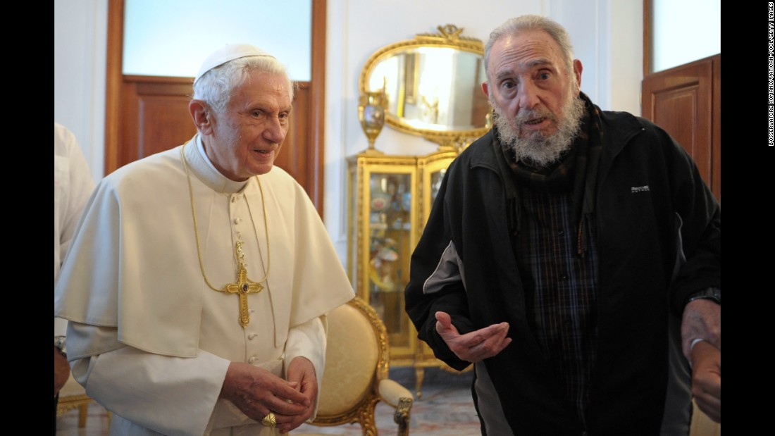"Pope Benedict XVI visited Cuba 14 years after his predecessor. The trip came a little less than a year before his retirement. During his visit, the Pope told the audience that he sought to emphasize ""the importance of faith,"" highlighting the need for good relations between the church and the island nation."
