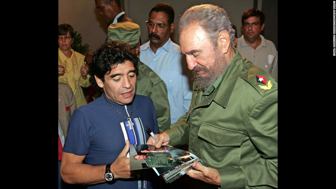 In the early 2000s, when former soccer star Diego Maradona was battling his cocaine addiction, the Argentine sought treatment in Cuba. He and Fidel Castro have been close ever since. Maradona has visited the island and met with Castro multiple times. The two have even exchanged letters. In 2015, it was a letter to Maradona that quelled rumors the Cuban leader had passed away.