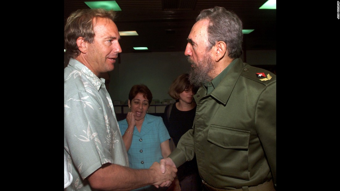 "In 2001, American actor Kevin Costner went to Cuba to give Fidel Castro a private screening of Costner's movie ""Thirteen Days."" The movie dealt with the subject of the Cuban Missile Crisis."