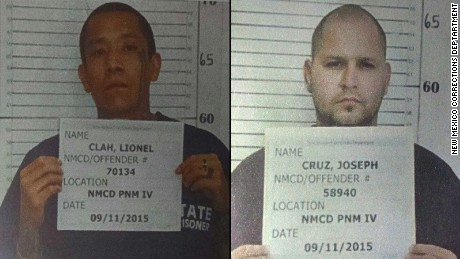 "Two ""violent"" prisoners, including one convicted of first-degree murder, escaped from a prisoner transport van in southeastern New Mexico on Wednesday night, the New Mexico State Police said."