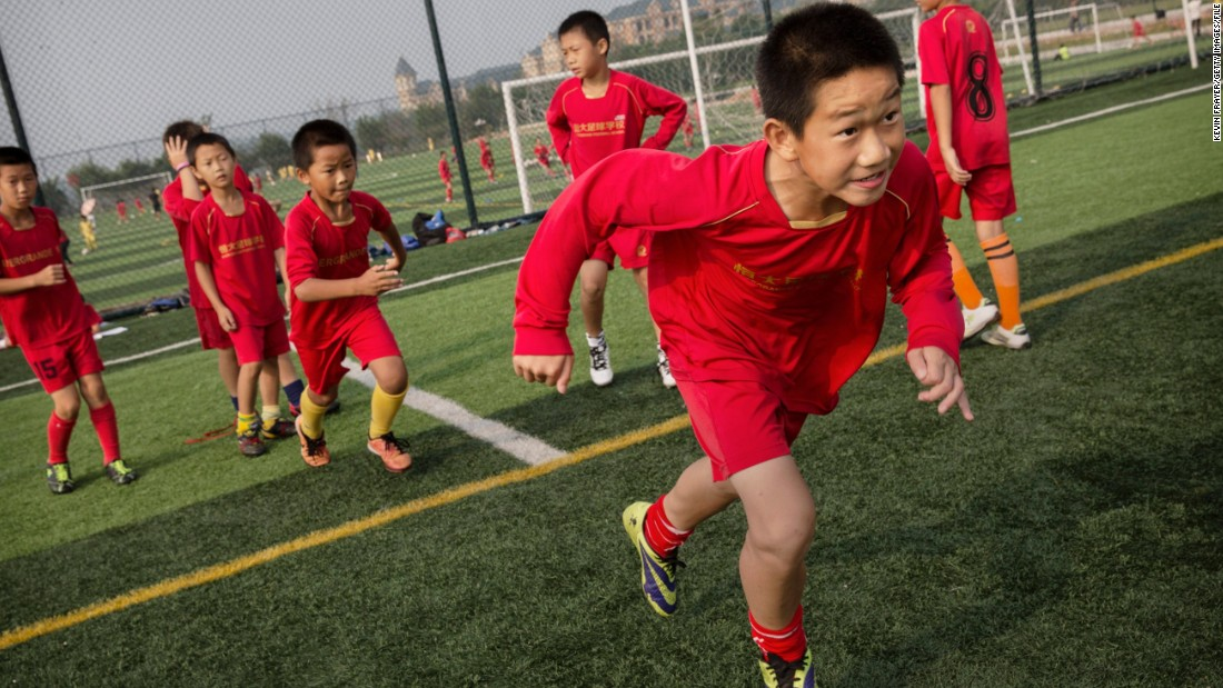 The Evergrande Football School in Qingyuan, Guangdong, is thought to be the biggest of its kind in the world. Built in just 10 months, it cost $185 million.