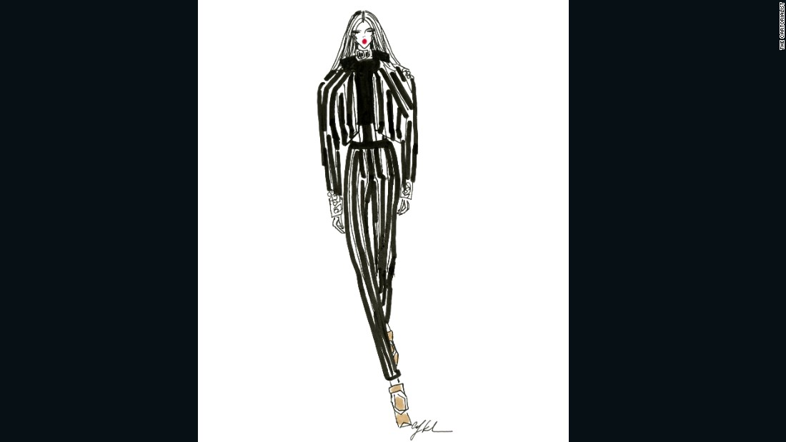 "Balmain by <a href=""https://www.instagram.com/thecartorialist/?hl=en"" target=""_blank"">Carly Kuhn (The Cartorialist)</a>"