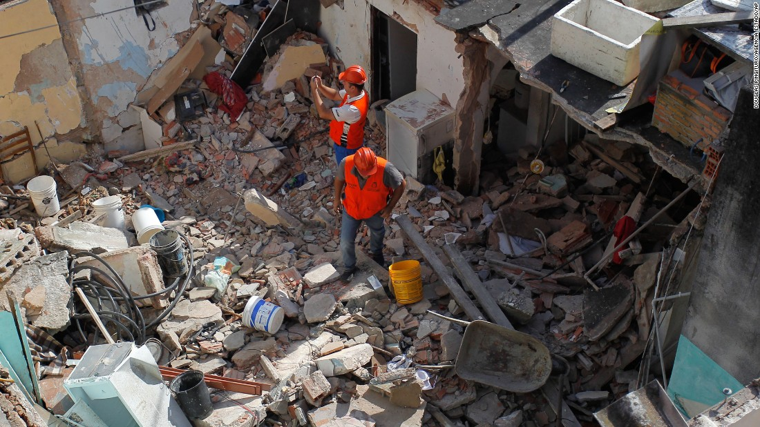 A gas explosion destroyed a house and left at least two people dead in Taboao da Serra, Brazil, on Wednesday, March 9.