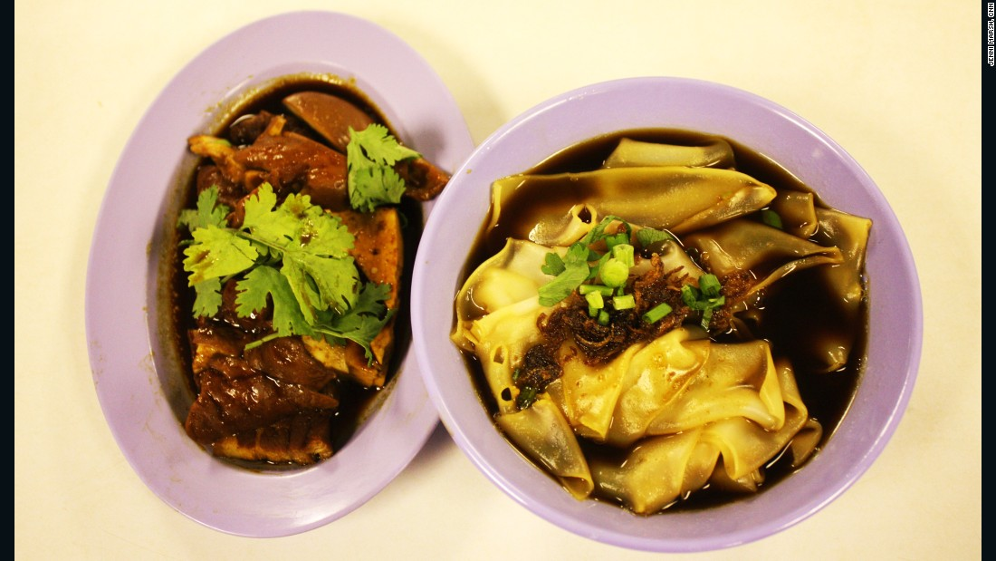 A Teochew dish of kway chap with braised pork at Singapore airport's staff canteen in Terminal 1.