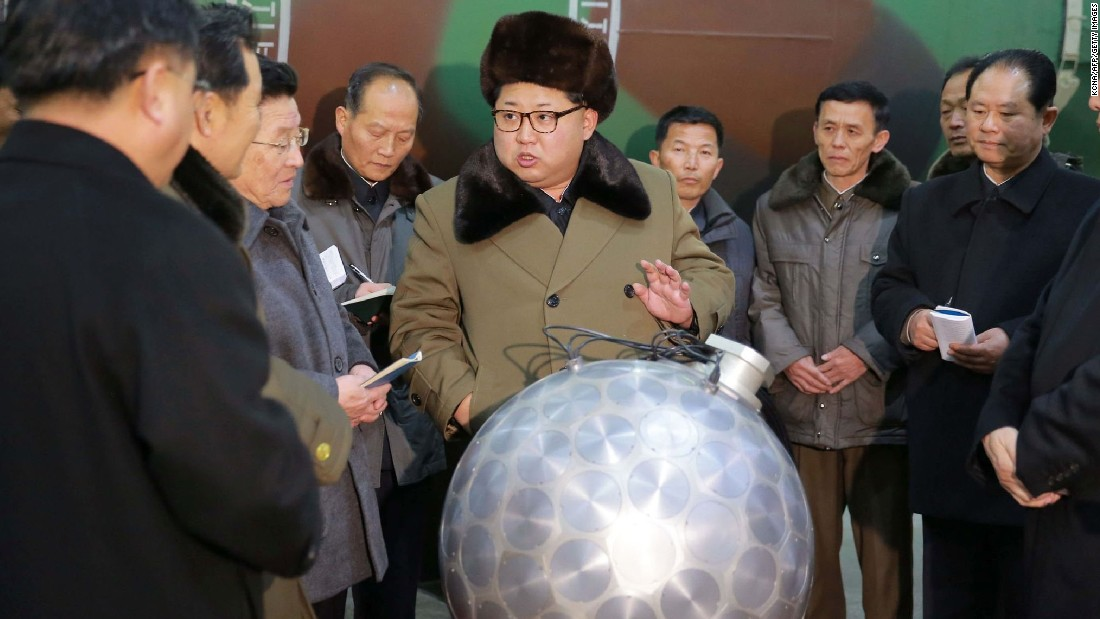 "North Korean leader Kim Jong Un meets with nuclear scientists and technicians at an undisclosed location in this undated image released on Wednesday, March 9. <a href=""http://www.cnn.com/2016/03/10/asia/north-korea-missiles/index.html"" target=""_blank"">North Korea claims </a>that it has miniaturized nuclear warheads to fit on ballistic missiles, according to the state-run Korean Central News Agency.<br />"
