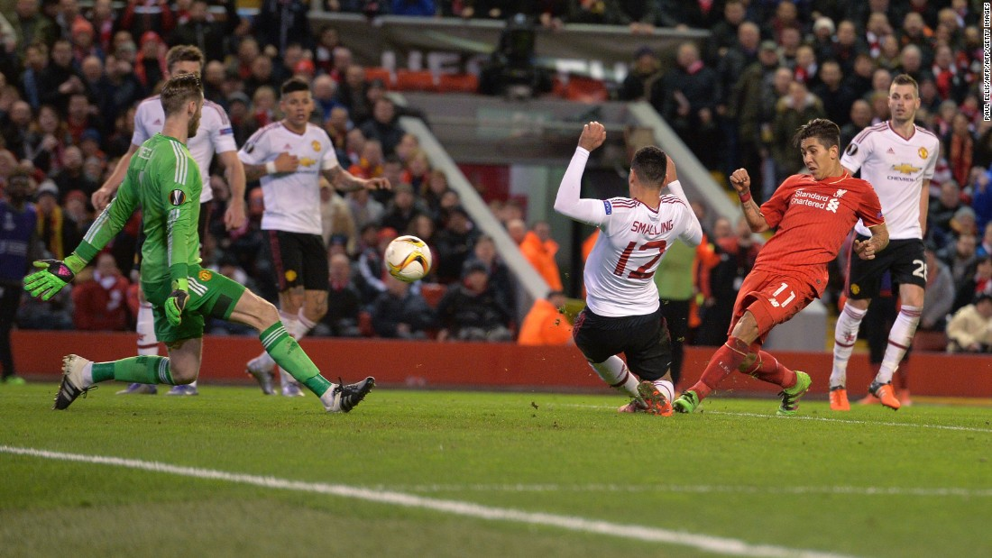 United were riding their luck, and De Gea could not keep Liverpool out forever. Indeed, after a mistake from Michael Carrick -- played out of position in central defense -- Firmino gleefully tucked away a second Liverpool goal.