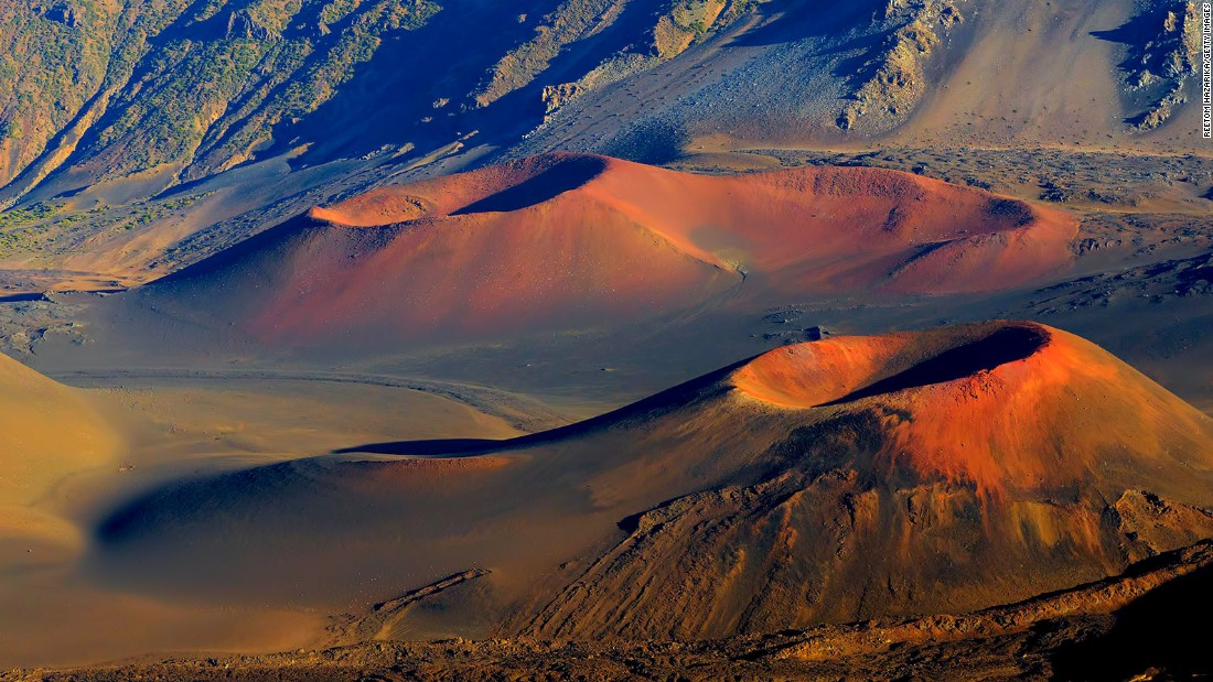 Haleakala, shown here, was made a separate national park in 1961, and Hawaii National Park was renamed Hawai'i Volcanoes National Park that same year.