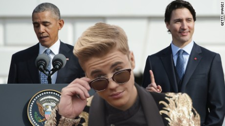 Obama, Trudeau trade Bieber jokes