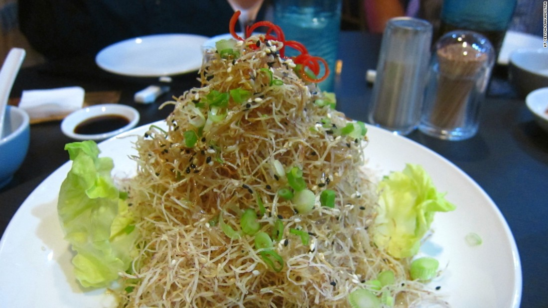 It's hard to get tired of chef Tonny Chan's shredded crispy yam salad, which is doused with an indecipherable truffle sauce.
