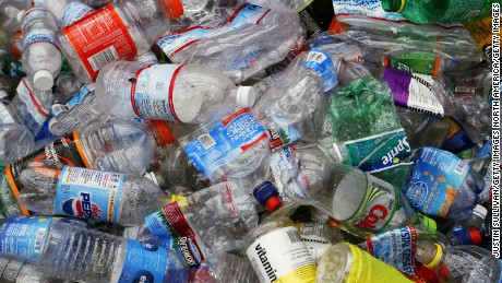 Bacteria breaks down a type of plastic known as PET, commonly used in water bottles.