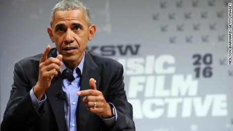 President Barack Obama speaks at the opening Keynote during the 2016 SXSW Music, Film + Interactive Festival at Long Center on March 11, 2016 in Austin, Texas.