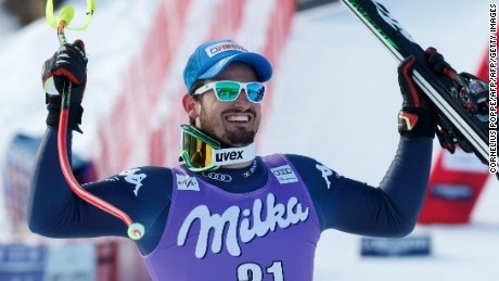 Paris clinched back-to-back World Cup titles with victory in Kvitfjell, Norway.