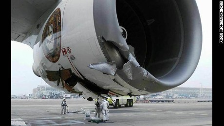 Ed Force One was damaged in Chile on Saturday.