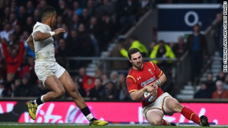 Wales wing George North sparked his side's revival at Twickeham.