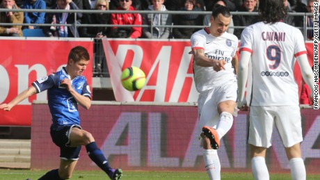Zlatan Ibrahimovic scores another sublime goal as he notched four in the 9-0 rout of Troyes.