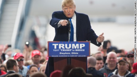 Trump accuses Sanders supporters of disrupting his rallies