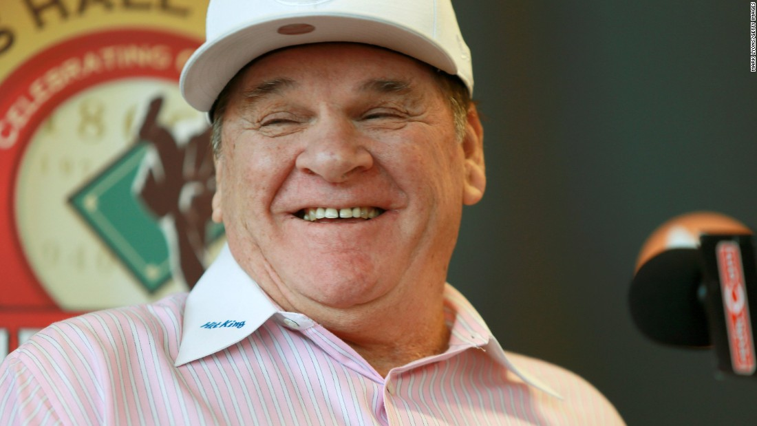 "On March 14, Trump tweeted a photo of a baseball purportedly signed by Pete Rose which read ""Mr. Trump, Please make America great again,"" although a lawyer for the former Cincinnati Reds great denies that he sent the ball or has endorsed a candidate."