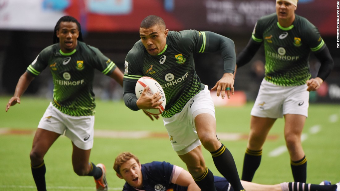 Rugby union superstar Bryan Habana featured for the runners-up, although U.S. speedster Carlin Isles was absent as he competed in an athletics meet in Portland as he attempts to resurrect his sprinting career.