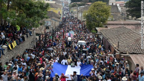 Thousands attended her funeral in La Esperanza on March 5.