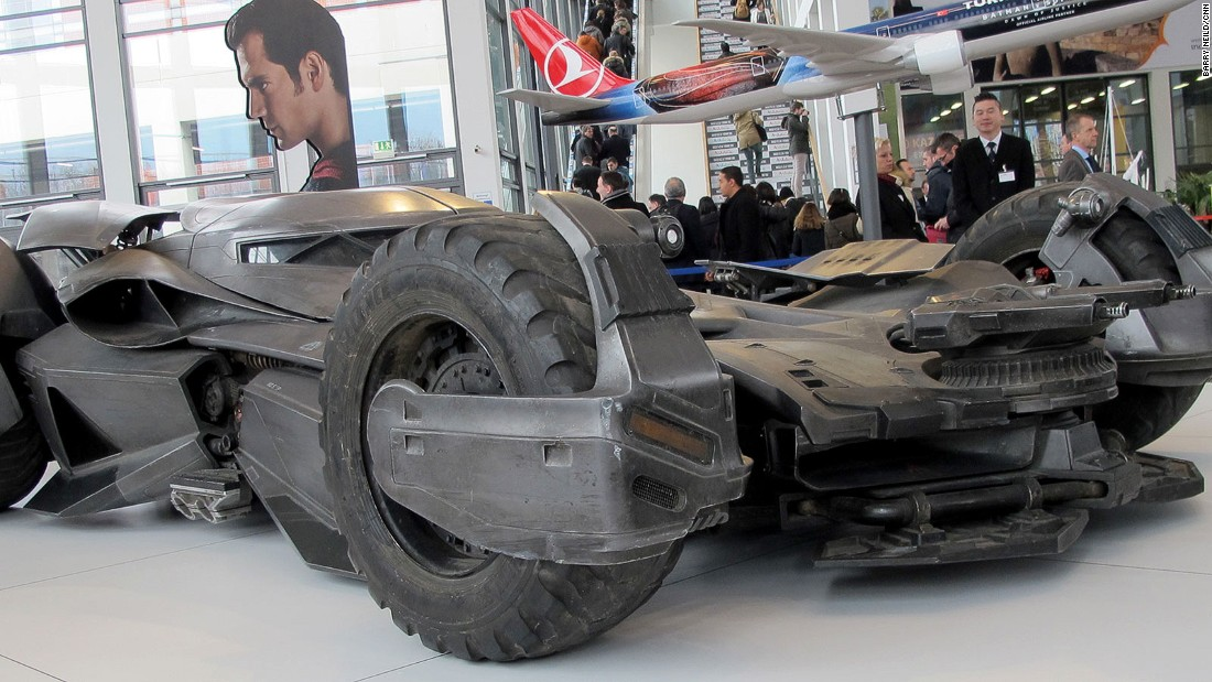 Turkish Airlines brought along the Batmobile. Its team have clearly had experience of using the hotel shuttle buses.