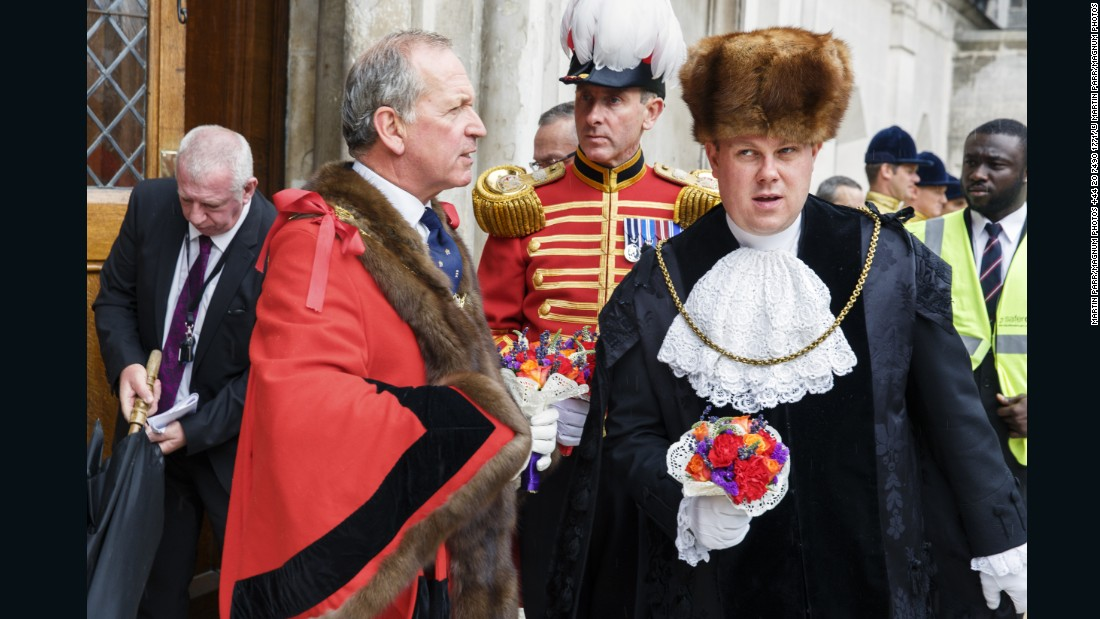 Election of the new Lord Mayor, Alan Yarrow, Guildhall, City of London, 2014