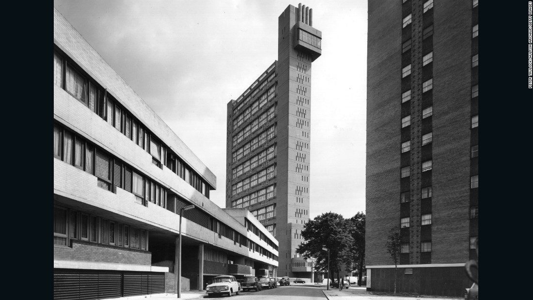 "Designed by Erno Goldfinger and built in Golborne Road, west London, Trellick Tower was believed to have been a direct inspiration for Ballard's high-rise. Completed in 1972, the 322 foot tall, 217 flat block also featured in Martin Amis' ""London Fields"" and today is a Grade II listed building."