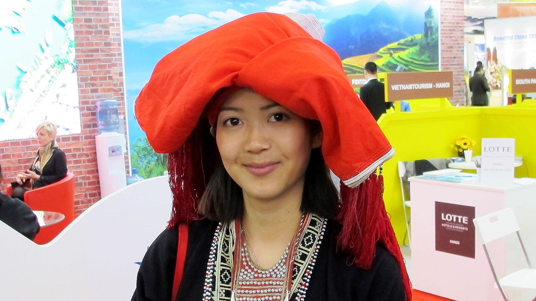 A more traditional look. This young woman is actually a science student from Berlin, but her family are originally from Vietnam.