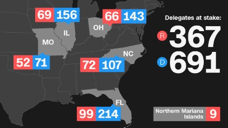 Delegates up for grabs on Super Tuesday No. 3