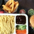 DaDong burger combo and noodles