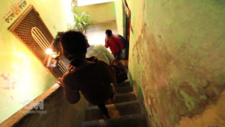 Watch police raid human traffickers in India