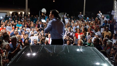 Republican presidential candidate Sen. Marco Rubio, R-Fla., speaks during a campaign rally in West Miami, Fla., Monday, March 14, 2016. (AP Photo/Paul Sancya)