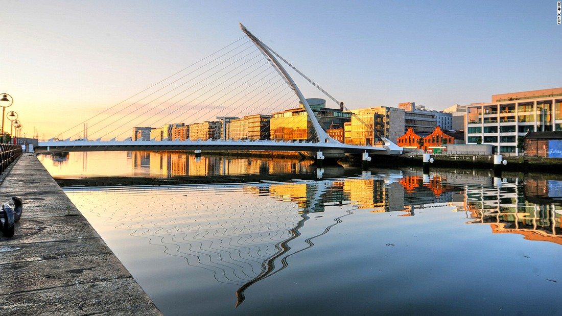 The regenerated Dublin Docklands have seen plenty of new developments in recent years, including the construction of the Convention Centre Dublin and Samuel Beckett Bridge (pictured).