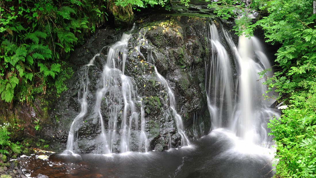 Hidden from the crowds heading to the nearby Giant's Causeway, Glenariff Forest Park is home to the Waterfall Walkway, featuring a total of three stunning waterfalls along its path.