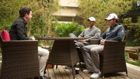 Shane O'Donoghue sits down with Tiger Woods and Rory McIlroy in China.