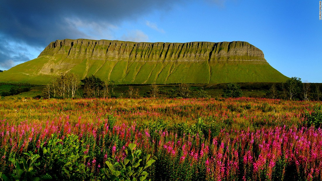 In the heart of Yeats Country -- the childhood home and final burial place of the poet W. B. Yeats -- Benbulbin is a jaw-like slab of the Dartry Mountains. It gained its distinctive shape during the Ice Age. It can be found on the northwest coast.