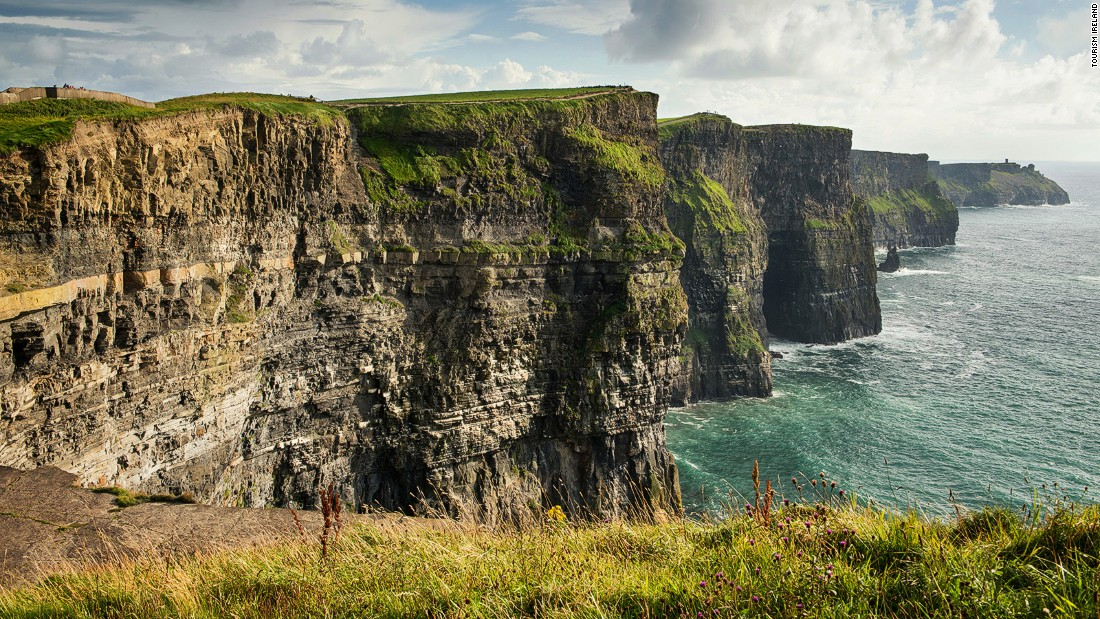 Perhaps Ireland's most famous attraction, the 214-meter-tall Cliffs of Moher attract around a million visitors each year. It's on the southwest edge of the Burren region.