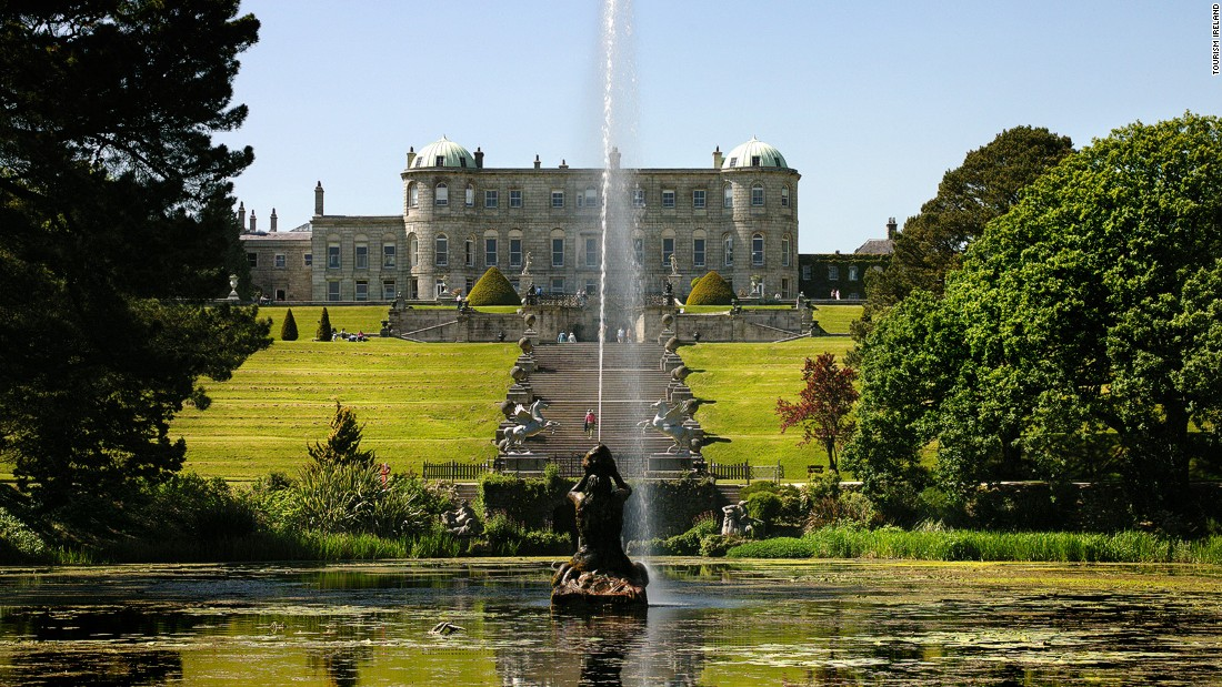 A popular day-trip from Dublin, Powerscourt Estate in Enniskerry is noted for its grand country house, landscaped gardens, golf course, and Ireland's highest waterfall.