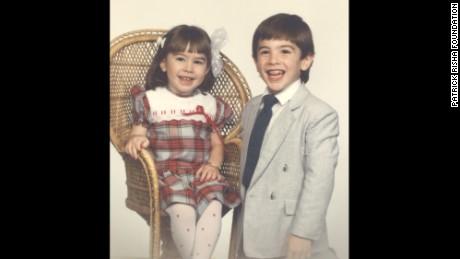 Patrick Risha poses with his sister Amanda.