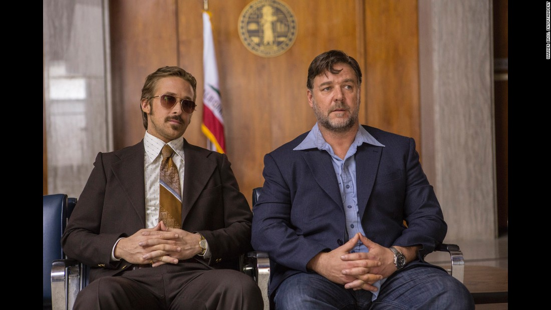 "Brooding Russell Crowe. Intense Ryan Gosling. In a comedy? Yep, they're playing ""The Nice Guys,"" in which a private detective and his roughneck colleague try to solve a case in 1977 Los Angeles. Given that it's directed and co-written by Shane Black, it'll be pretty dark, too. It opens May 20."