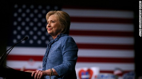 Democratic presidential candidate former Secretary of State Hillary Clinton speaks during her primary night gathering on March 15, 2016 in West Palm Beach, Florida.