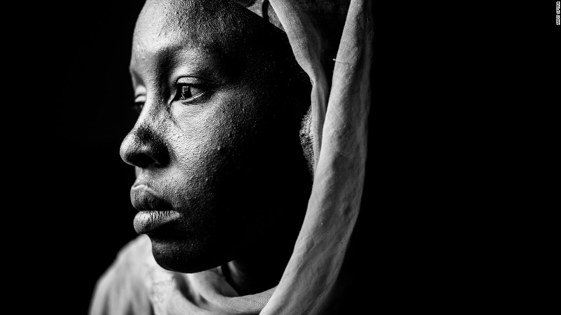 Hajar Adamu spent three weeks as a prisoner of Boko Haram, the Islamist militant group in Nigeria. She is one of dozens of survivors who posed for photographer Andy Spyra.