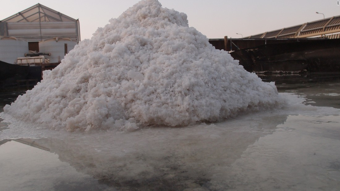 Desalination will produce large quantities of salt, for commercial sale.