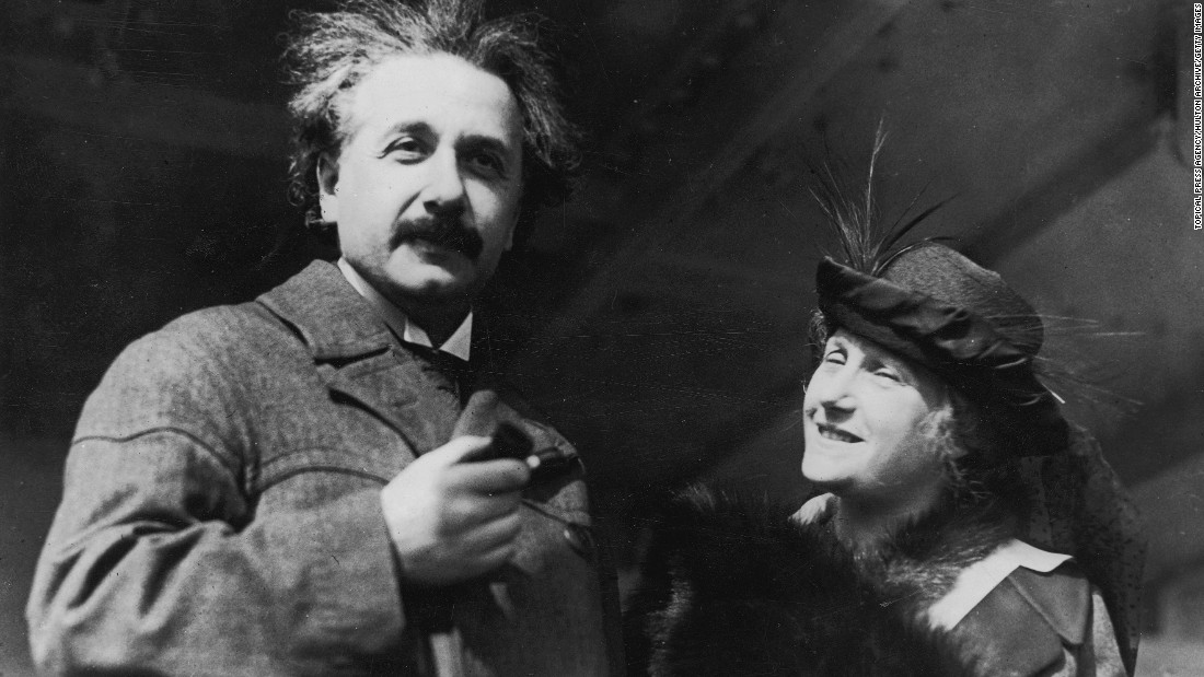 Einstein and his wife visit Egypt circa 1921.