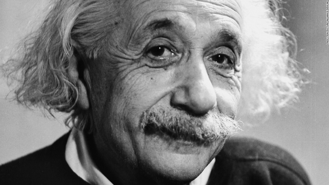 Albert Einstein, one of the 20th century's most influential thinkers, poses for a portrait in 1946. The late physicist would have been 137 this week.
