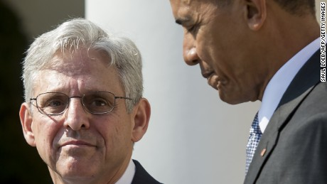 US President Barack Obama announces his Supreme Court nominee, federal appeals court judge Merrick Garland during an announcement in the Rose Garden of the White House in Washington, DC, March 16, 2016.
