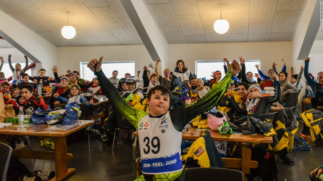 It is a chance for young athletes from nine different polar regions to spend time with each other -- particularly when there's a weather delay, like this one during the snowboarding.